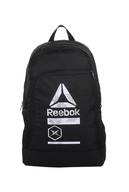 Buy Reebok Versatile Black   White Printed Laptop Backpack Online ...