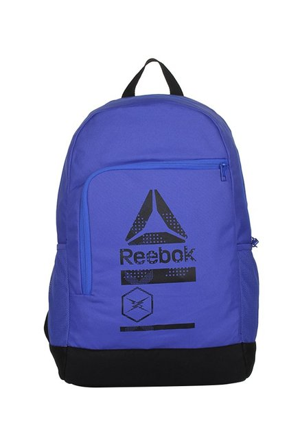 Reebok Versatile Blue   Black Printed Laptop Backpack