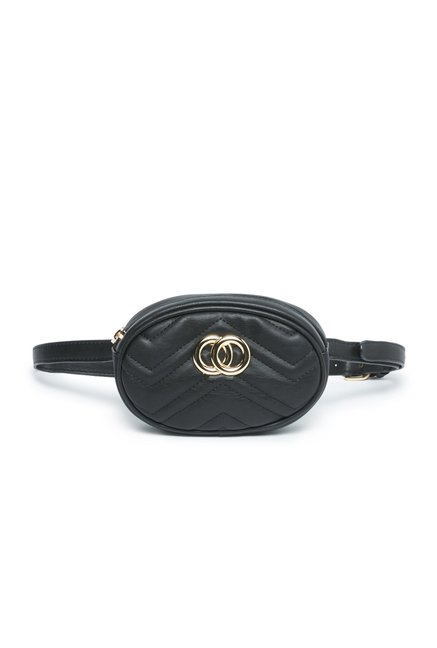 4407c84f87a1 Buy LOV by Westside Black Quilted Belt Bag for Women Online ...