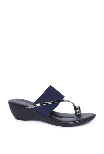 ba0f1c3a6 Buy LUNA BLU by Westside Navy Metallic Band Sandals For Women Online At Tata  CLiQ