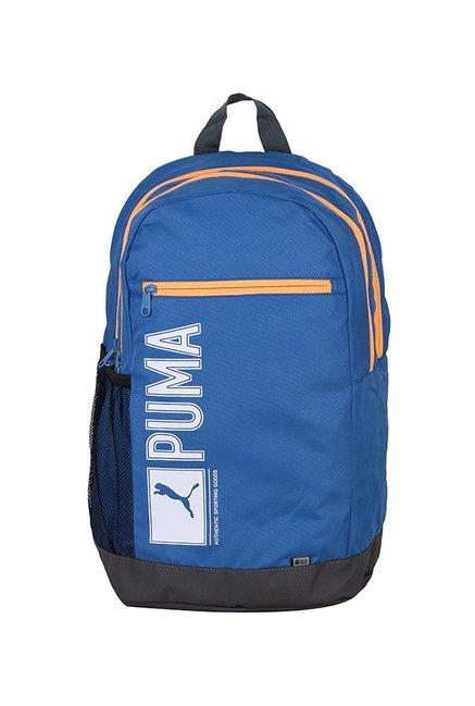 da2fdde066 Buy Puma Pioneer I Ind Blue   Dark Grey Printed Laptop Backpack Online At  Best Price   Tata CLiQ