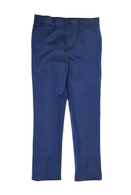 b17952c82 Buy US Polo Kids Navy Solid Trousers for Girls Clothing Online   Tata CLiQ