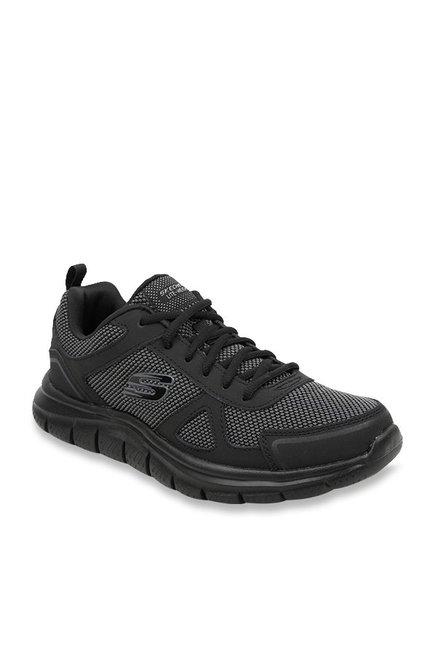 6bacbe49e01 Buy Skechers Track Black   Grey Running Shoes for Men at Best Price   Tata  CLiQ
