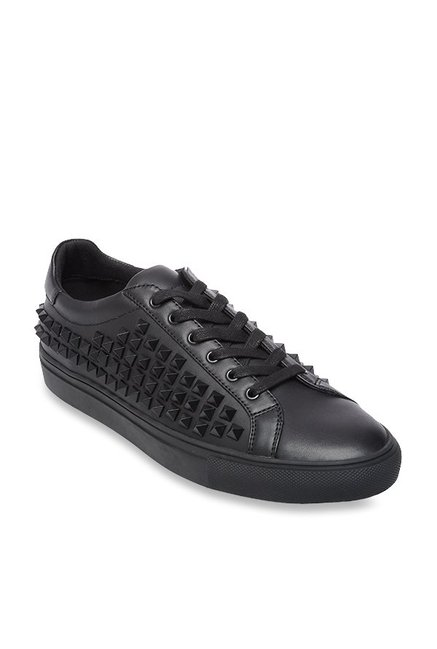 d6c8b487d51 Buy Steve Madden Atticus Black Sneakers for Men at Best Price   Tata CLiQ
