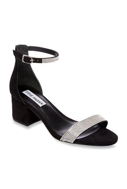 5d51b58948b Buy Steve Madden Irenee-R Black Ankle Strap Sandals for Women at Best Price    Tata CLiQ