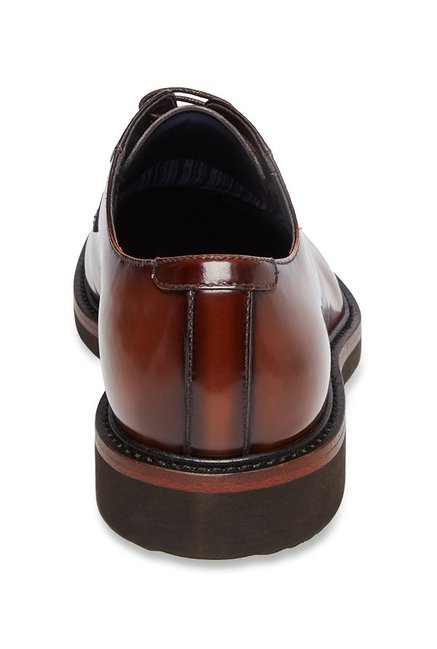 c3e69e7a023 Buy Steve Madden Drama Tan Derby Shoes for Men at Best Price   Tata CLiQ