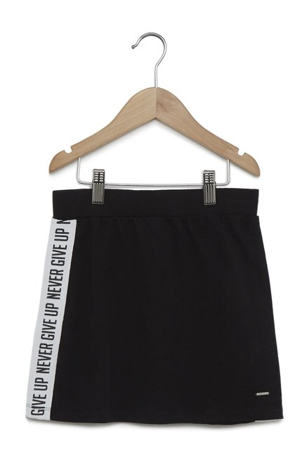 c7865a16c0 Buy Y&F by Westside Black Tape Detail Skirt for Girls Clothing Online @  Tata CLiQ
