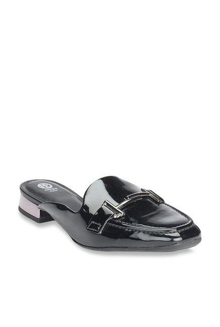 c86ea1e2b3d62 Buy Pavers England Black Mule Shoes for Women at Best Price @ Tata CLiQ