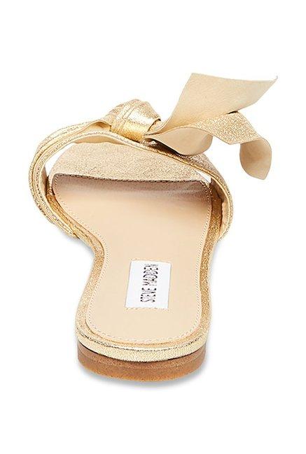 0392417eaef Buy Steve Madden Truesdale Golden Casual Sandals for Women at Best ...