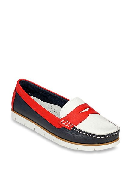 099430fcdff Buy Pavers England Navy   Red Loafers for Women at Best Price   Tata CLiQ