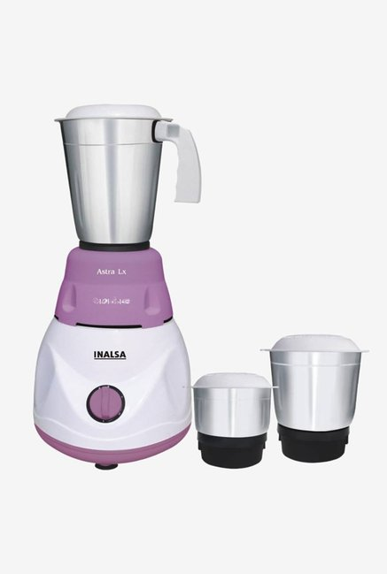 81c16fdc222 Buy Inalsa Astra Lx 600 Watts 3 Jar Mixer Grinder (White Purple) Online At  Best Price   Tata CLiQ