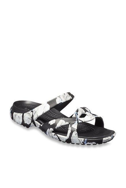 02a7aa66126c Buy Crocs Meleen Twist Graphic Black   White Casual Sandals for Women at  Best Price   Tata CLiQ