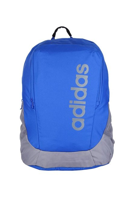 693df0a1213 Buy Adidas Parkhood Blue & Grey Solid Polyester Laptop Backpack ...