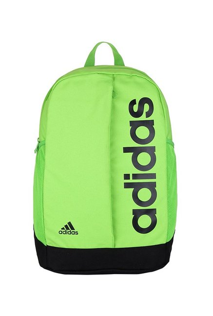d533de19cb2f Buy Adidas Lin Per Lime Green   Black Solid Laptop Backpack Online At Best  Price   Tata CLiQ