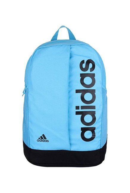 ac7d8f93fbc Buy Adidas Lin Per Sky Blue & Black Solid Polyester Laptop Backpack ...