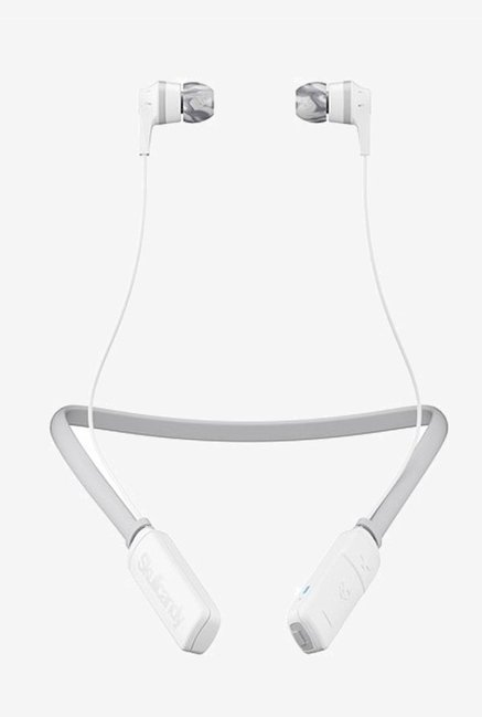 Skullcandy SCS2IKW J573 Bluetooth Headset with Mic  White/Gray
