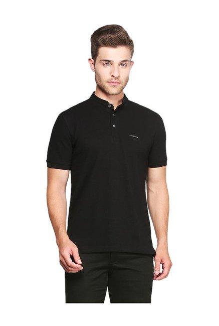 3eb2f6866 Buy Van Heusen Black Cotton T-Shirt for Men Online @ Tata CLiQ
