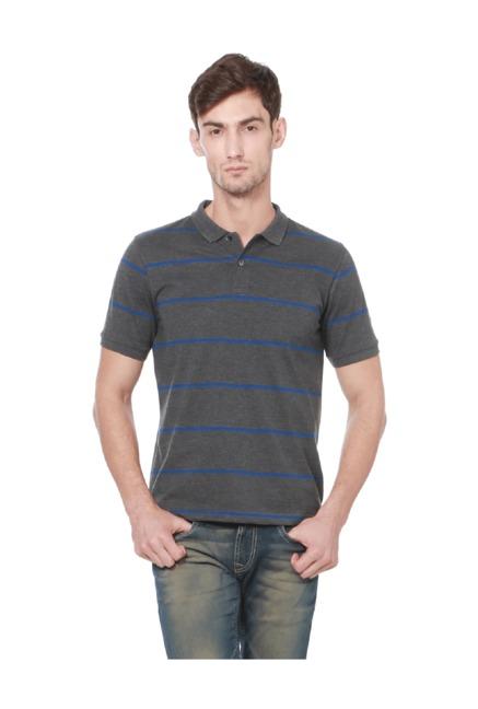 983e0867f43 Buy Peter England Grey Regular Fit Polo T-Shirt for Men Online ...