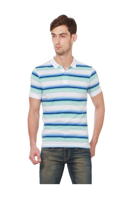 ae30a766a4d Buy Peter England Multicolor Regular Fit Polo T-Shirt for Men Online ...