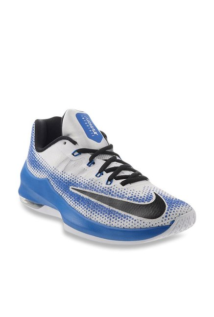 b38cafe21e5 Buy Nike Air Max Infuriate Low White   Blue Basketball Shoes for Men at  Best Price   Tata CLiQ