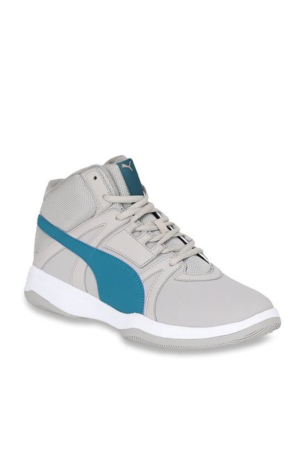 86133fc5482603 Buy Puma Rebound Street Evo SL IDP Ash Grey Ankle High Sneakers for Men at  Best Price   Tata CLiQ
