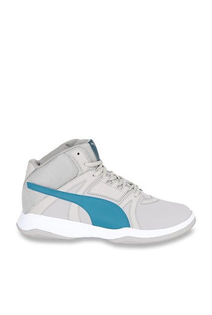 842bafd427ed4f Buy Puma Rebound Street Evo SL IDP Ash Grey Ankle High Sneakers for ...