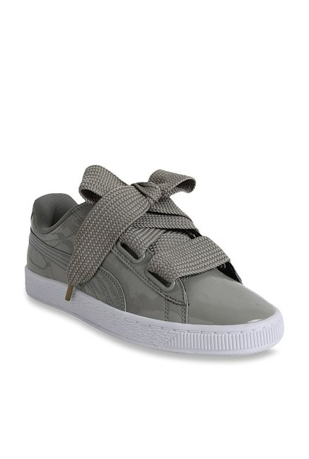 c41a24d71bc0a Buy Puma Basket Heart Rock Ridge Sneakers for Women at Best Price   Tata  CLiQ