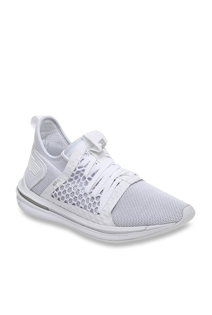new styles 9d5d7 5fbc8 Buy Puma Ignite Limitless SR Netfit White Running Shoes for ...