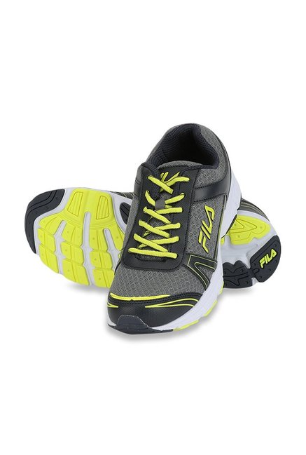 Buy Fila Wayne Grey & Yellow Running Shoes for Men at Best Price @ Tata CLiQ