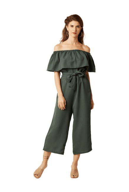 11a7c0279c4 Buy Miss Chase Green Polyester Jumpsuit for Women Online   Tata ...
