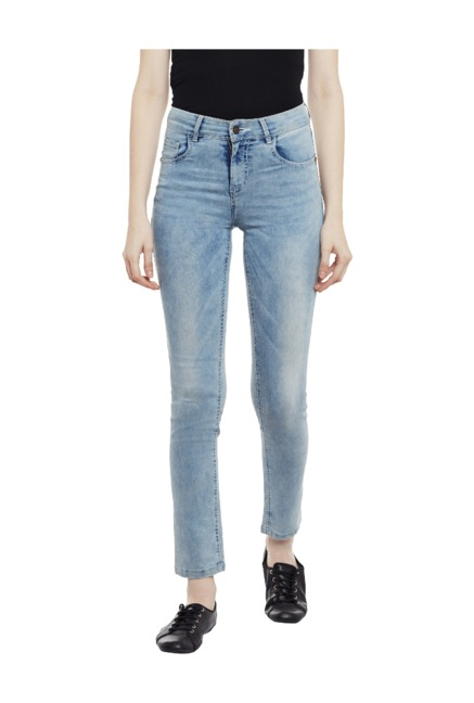 4cc7c08e5d Buy Miss Chase Blue Slim Fit High Rise Jeans for Women Online @ Tata CLiQ