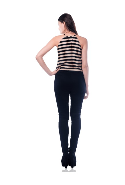 0c00f28f641 Buy Miss Chase Beige   Black Striped Jumpsuit for Women Online ...