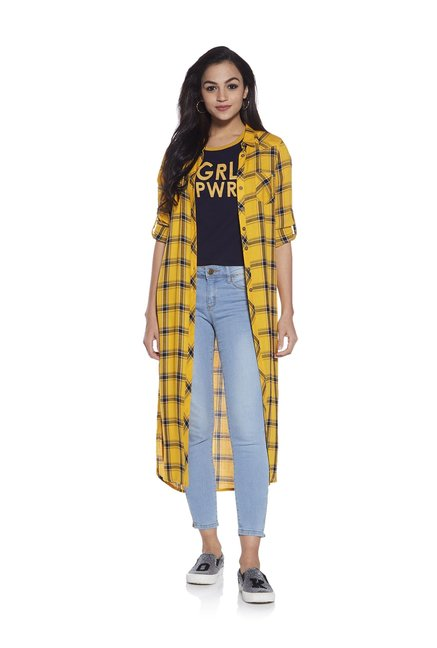 79942d5d0bad9 Buy Nuon by Westside Mustard Abigail Top for Women Online   Tata CLiQ