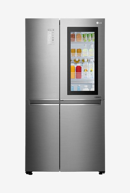 LG GC-Q247CSBV 687 L Frost Free Side by Side Refrigerator (Noble Steel)
