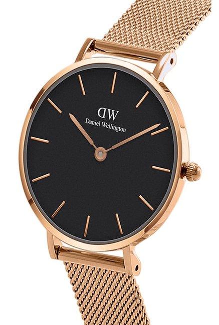404fa1666d4d4 Daniel Wellington DW00500007 Classic Petite Melrose Black Dial Watch 32Mm    Rose Gold Cuff Combo