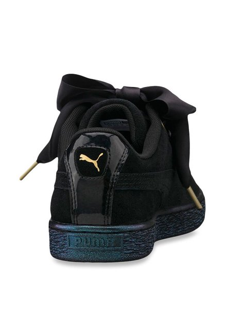 new concept 13216 e225f Buy Puma Heart Satin Black Sneakers for Women at Best Price ...