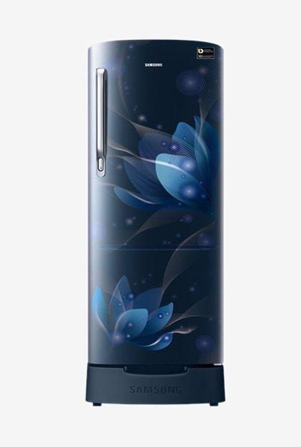 Samsung RR22N385YU8 215 L Inverter 4 Star Direct Cool Single Door Refrigerator  Saffron Blue