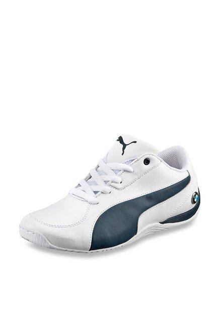 Buy Puma BMW Drift Cat 5 L NU Jr White & Team Blue Sneakers