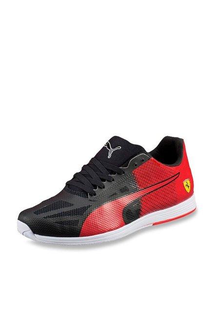 f27b32dcd5a Buy Puma Ferrari evoSPEED Sock SF Black   Rosso Corsa Sneakers for Men at Best  Price   Tata CLiQ