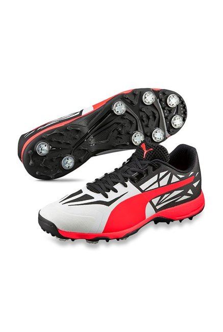 0ae408d66aa Buy Puma evoSPEED 1.5 Spike White   Black Cricket Shoes for Men at ...