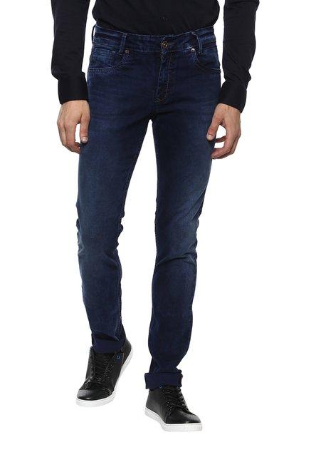 Mufti Dark Blue Super Slim Fit Jeans