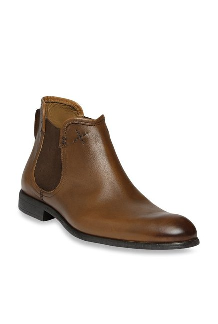 eab071634811 Buy Ruosh Tan Chelsea Boots for Men at Best Price   Tata CLiQ
