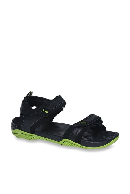 Buy Puma Supremacy DP Black   Limepunch Floater Sandals for Men at Best  Price   Tata CLiQ 2b964ba00