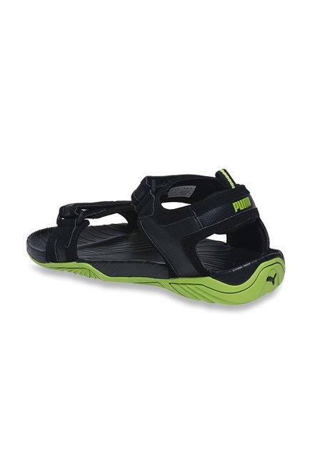 Buy Puma Supremacy DP Black   Limepunch Floater Sandals for Men at ... 121563cef