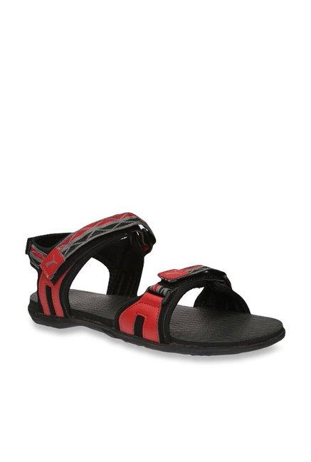 a596ca9d696d Buy Puma Nova Red   Black Floater Sandals for Men at Best Price ...