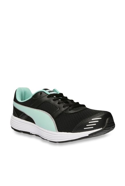 c40e93fc37fd Buy Puma Harbour IDP Black   Mint Green Running Shoes for ...