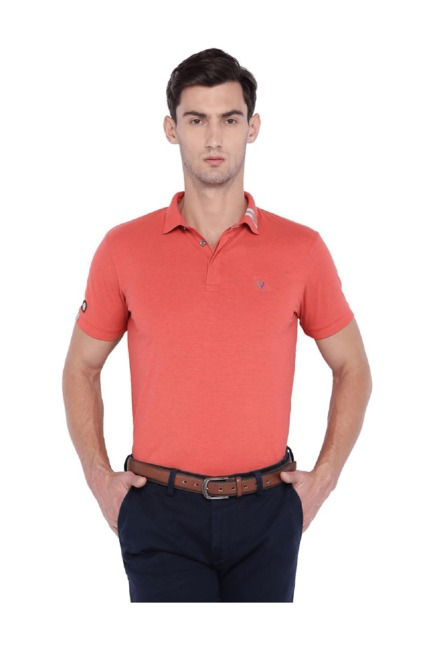 2c4a3037 Buy Allen Solly Red Slim Fit Wimbledon Polo T-Shirt for Men Online @ Tata  CLiQ