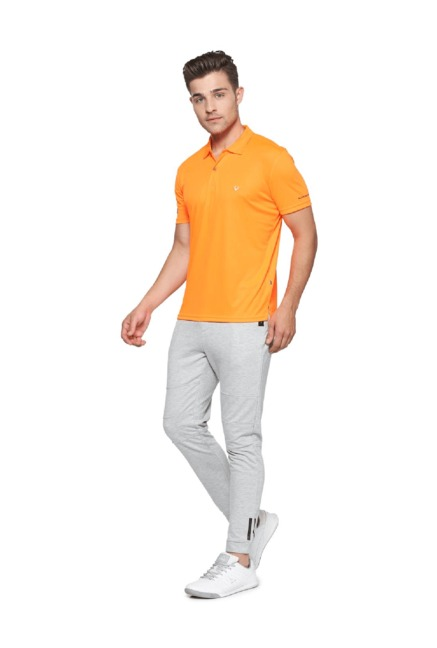 e1fb6afd Buy Allen Solly Orange Regular Fit Wimbledon Polo T-Shirt for Men ...
