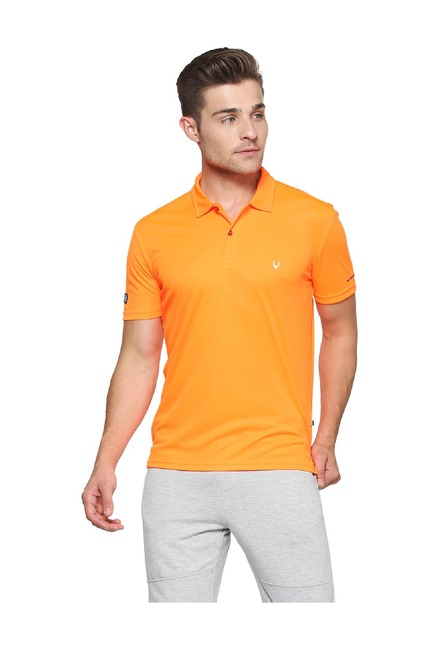 c44a45c7 Buy Allen Solly Orange Regular Fit Wimbledon Polo T-Shirt for Men Online @ Tata  CLiQ