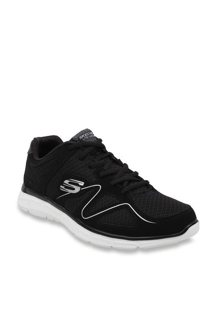 6a25d9df79b Buy Skechers Black Running Shoes for Men at Best Price   Tata CLiQ